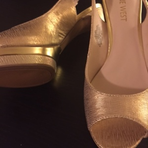 The Nine West Able Platform in Gold
