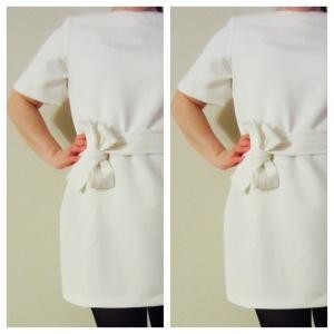 Asos Petite Shift Dress with Obi Belt